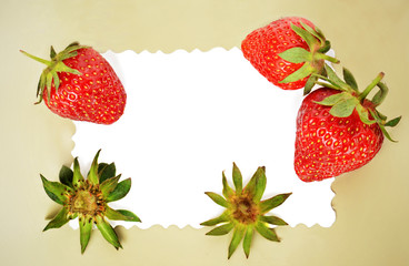 Frame with strawberries