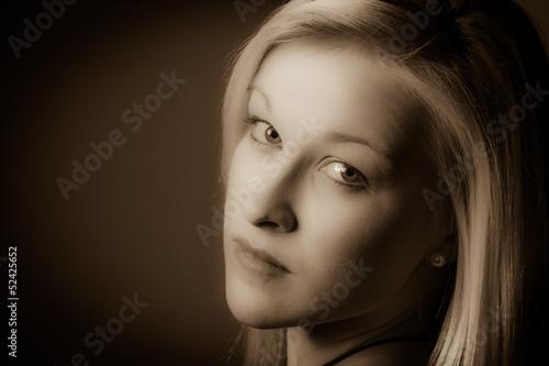 canvas print picture Porträt einer jungen Frau