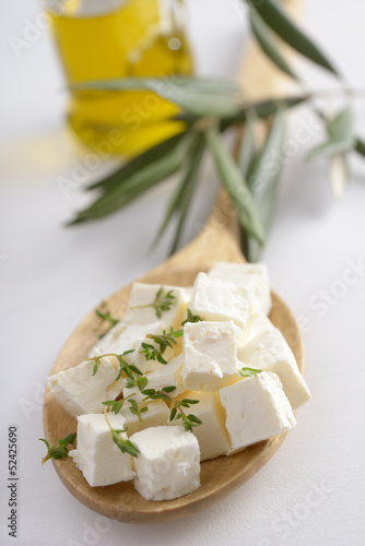 Diced feta cheese