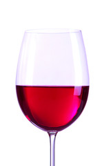 Glass of wine close-up