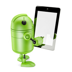 Robot Holding Touch Screen Mobile Device