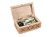 Box with a variety of jewelry