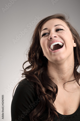 Laughing Young Beautiful Woman