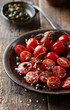 Cherry tomatoes with capers and sea salt