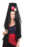 Woman with Mantilla and costume