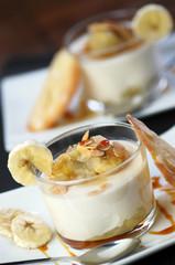 panna cotta banane et amandes grillées 6