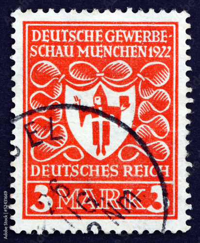Postage stamp Germany 1922 Arms of Munich