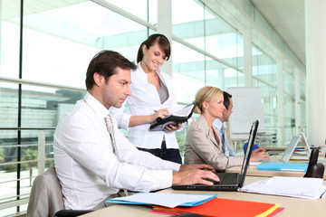 Busy office team