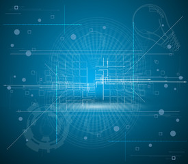 abstract futuristic internet high computer technology business b
