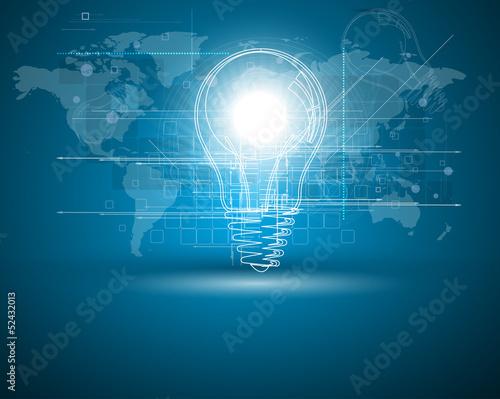 Staande foto Wereldkaart abstract futuristic internet high computer technology business b