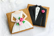 Bride and groom cookies - 52432248