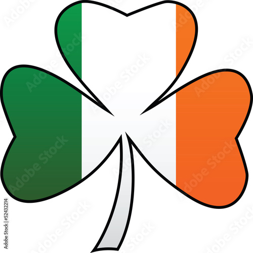 Irish Flag and Symbol Combination