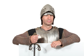 Man dressed as a knight