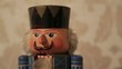 Colorful nutcracker toy opening and closing his mouth