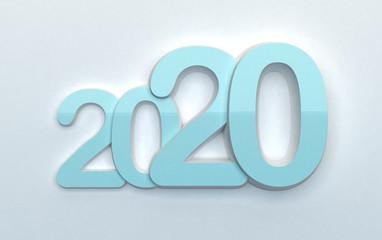2020 - data chiara su bianco tenue delicata