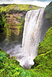 Famous Skogafoss waterfall in Iceland poster