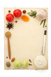 food ingredients and recipe pape