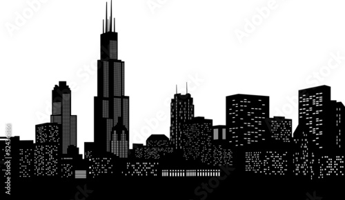 Chicago Skyline Vektor