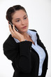 Businesswoman talking on her mobile phone