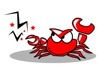 crabe,crustacé,personnage,bande dessinée,pince,pincer
