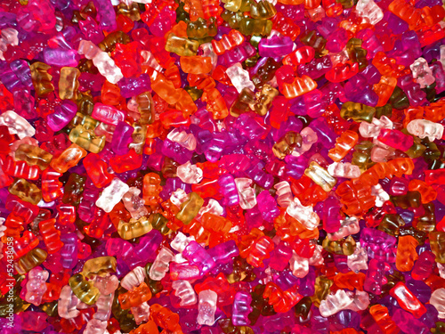 bonbons ours gelatine rose
