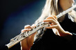 Flute music instrument flutist playing - 52438203
