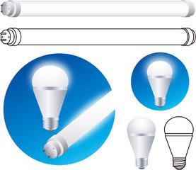 LED電球 蛍光管