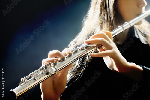 Flute music instrument flutist playing