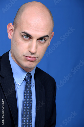 Striking businessman