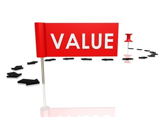 Push pin to value