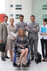 Businesswoman in a wheelchair