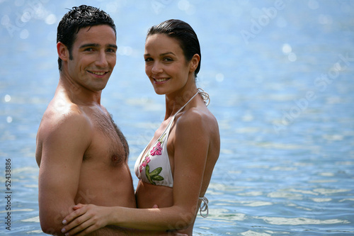 Couple in the sea