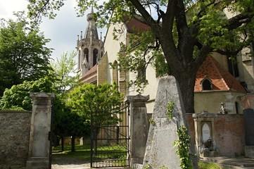 Gate to St. Michael church, Sopron, Hungary