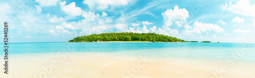 Tropical island panorama