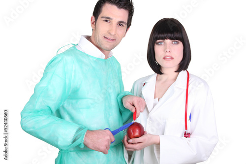 medical duo and apple