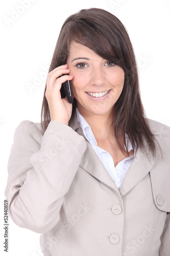Woman talking on a cell