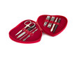 red manicure set