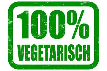 Grunge Stempel grün 100% VEGETARISCH