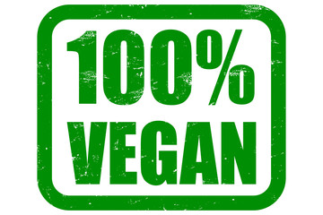 Grunge Stempel grün 100% VEGAN