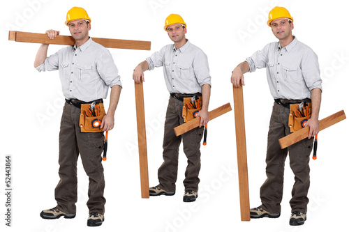 Shots of a carpenter