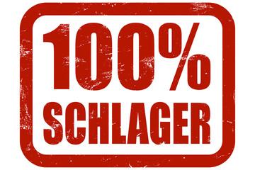 Grunge Stempel rot 100% SCHLAGER