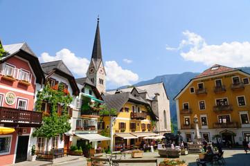 Market Square in Hallstatt, Austria