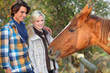 Meeting a horse