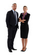Senior businessman and young businesswoman