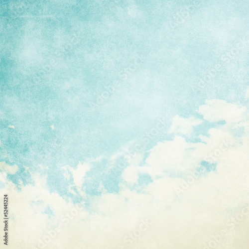 canvas print picture Water color like cloud on old paper texture background