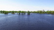 River panorama with trees