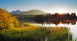 Fototapety lake and sun - Slovakia Tatras, Strbske pleso