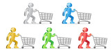 Humans and shopping carts