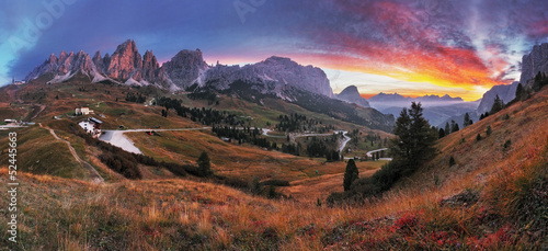 Landscape in the mountains. Sunrise - Italy alps © TTstudio
