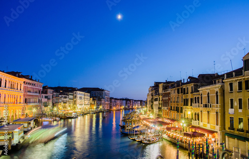 VENICE, ITALY - JUNE 30: View from Rialto bridge on June 30, 201